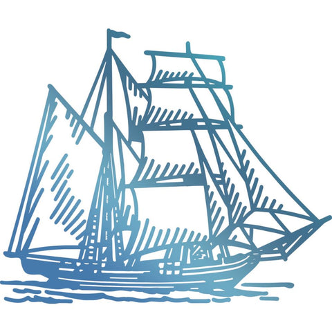Couture Creations hot foil stamp - Tall ship
