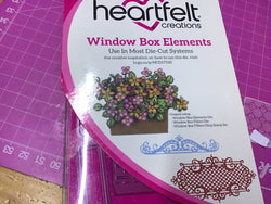 Heartfelt Creations Window box elements die set