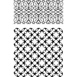 Ultimate crafts background jewelled lattice stamp