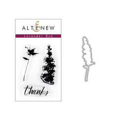 Altenew - lavender bud stamp and die bundle