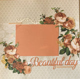 Beautiful day double page scrapbook kit