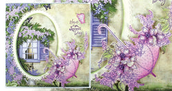 Heartfelt Creations - Lush lilac and umbrella spray die-and stamp bundle