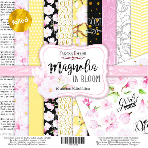 Fabrika Magnolia in Bloom 12x12 scrapbooking