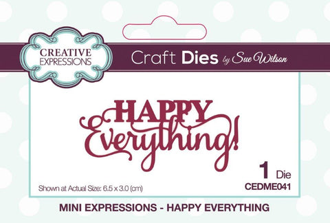 Creative Expressions mini expressions die Happy everything CEDME041
