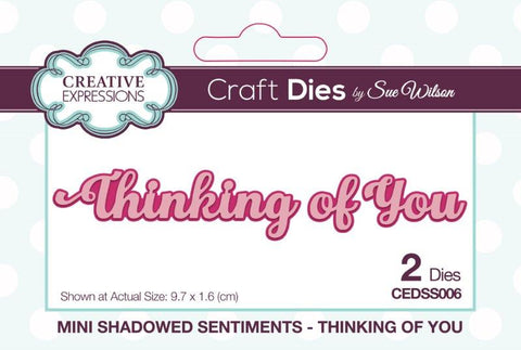 Creative Expressions mini expressions  - Thinking of you shadowed sentiments