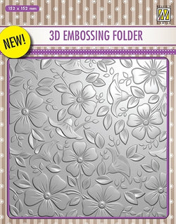 Nellies 3D embossing folder - Flowers 3