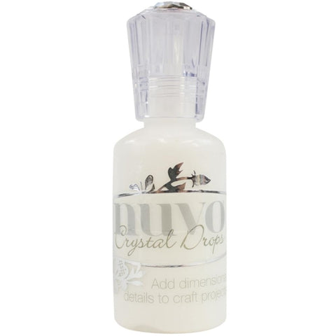 Nuvo crystal drops simply white gloss