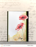 Altenew painted poppy stamp and die bundle