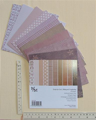 Paper pack 6x6 brown