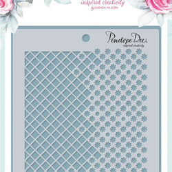 Penelope Dee stencil - Victoria lattice lace
