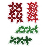 Heartfelt Creations - Poinsettia & Holly clusters