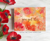 The Ton - Poppy border - unmounted rubber stamp