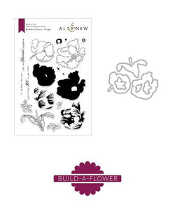 Altenew - Build-a-flower poppy stamp and die set