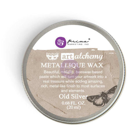 Finnabair wax metallique old silver