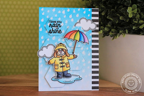 Sunny Studio Rain shower stamp