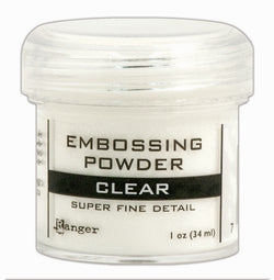 Ranger super fine embossing powder - clear
