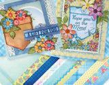 Heartfelt Creations Patchwork pockets and patterns stamp and die set