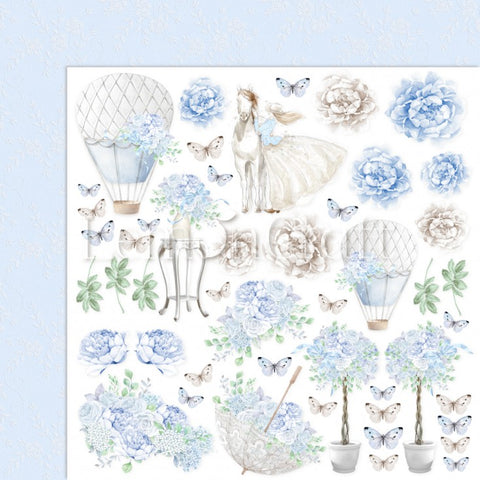 Lemoncraft Serenity 30x30cm paper packelements sheet for cutting out