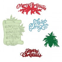 Heartfelt Creations - Silent night scroll - stamp and dies - SAVE 35%