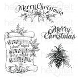 Heartfelt Creations - Silent night scroll - stamp and dies