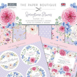 PB - Springtime blooms pack 8x8 papers and sentiment toppers