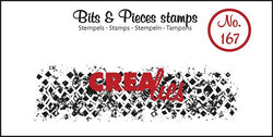 Crealies grunge stamp with squares