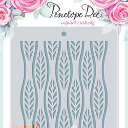 Penelope Dee stencil - Stylized leaves