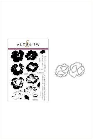 Altenew Strength bloom stamp and die bundle
