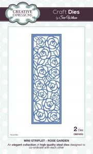 Creative Expressions mini striplet rose garden CED1612