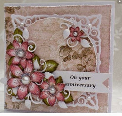 Heartfelt Creations - Sun kissed fleur stamp and die set