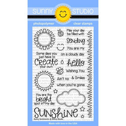 SS Sunny sentiments stamp with die set