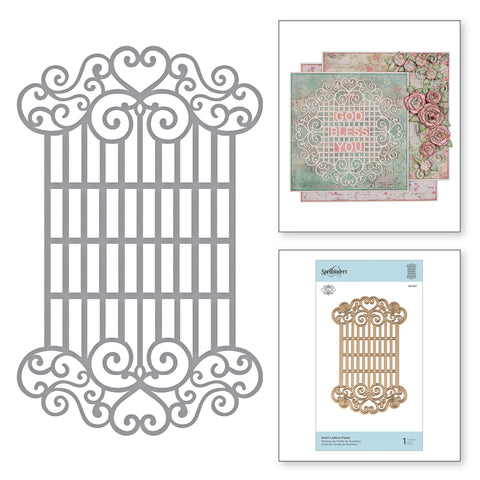 Spellbinders Swirl lattice pattern