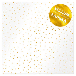 Fabrika Vellum 30x30 white with gold drops