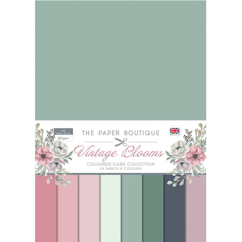 Paper Boutique - Coloured card - Vintage blooms