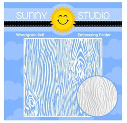 Sunny Studio Woodgrain embossing folder