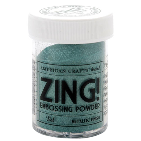 Zing metallic embossing powder - Teal