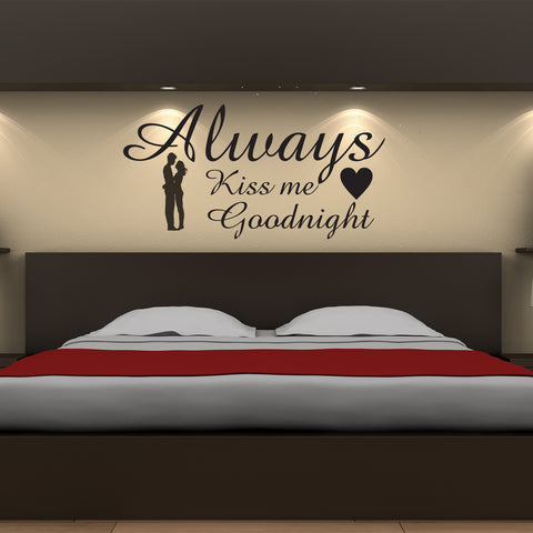 Always Kiss Me Goodnight - Wall Art