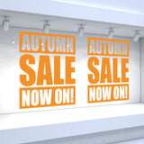 2 x AUTUMN SALE NOW ON! Retail Window Decals