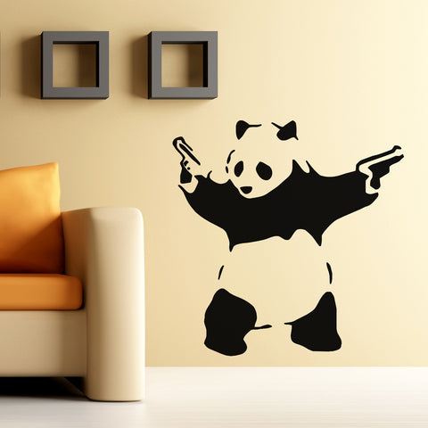 Banksy Angry Panda Wall Sticker
