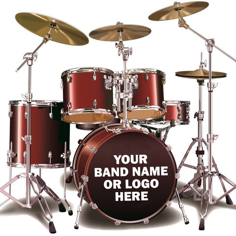 Custom Design Bass Drum Sticker