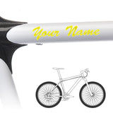 2 x Bike Frame Custom Name Stickers - Brush Script Style