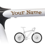 2 x Bike Frame Custom Name Stickers - Cartoon Style