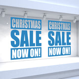2 x CHRISTMAS SALE NOW ON! Retail Window Decals