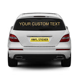 2 x Personalised Rear Window Car Stickers - Standard Font