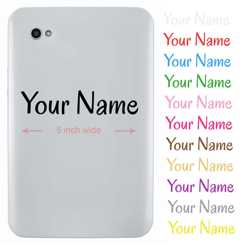 Personalised Name Sticker For Tablet or iPad