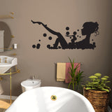 Girl In Bubble Bath - Wall Sticker