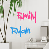Personalised Graffiti Wall Name Sticker