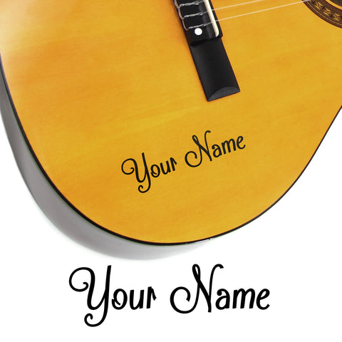 X Custom Name Guitar Stickers Shack Style Vinyl Sticker Shack - Guitar custom vinyl stickers