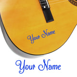 2 x Custom Name Guitar Stickers - Shack Style