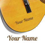 2 x Custom Name Guitar Stickers - Wing Style